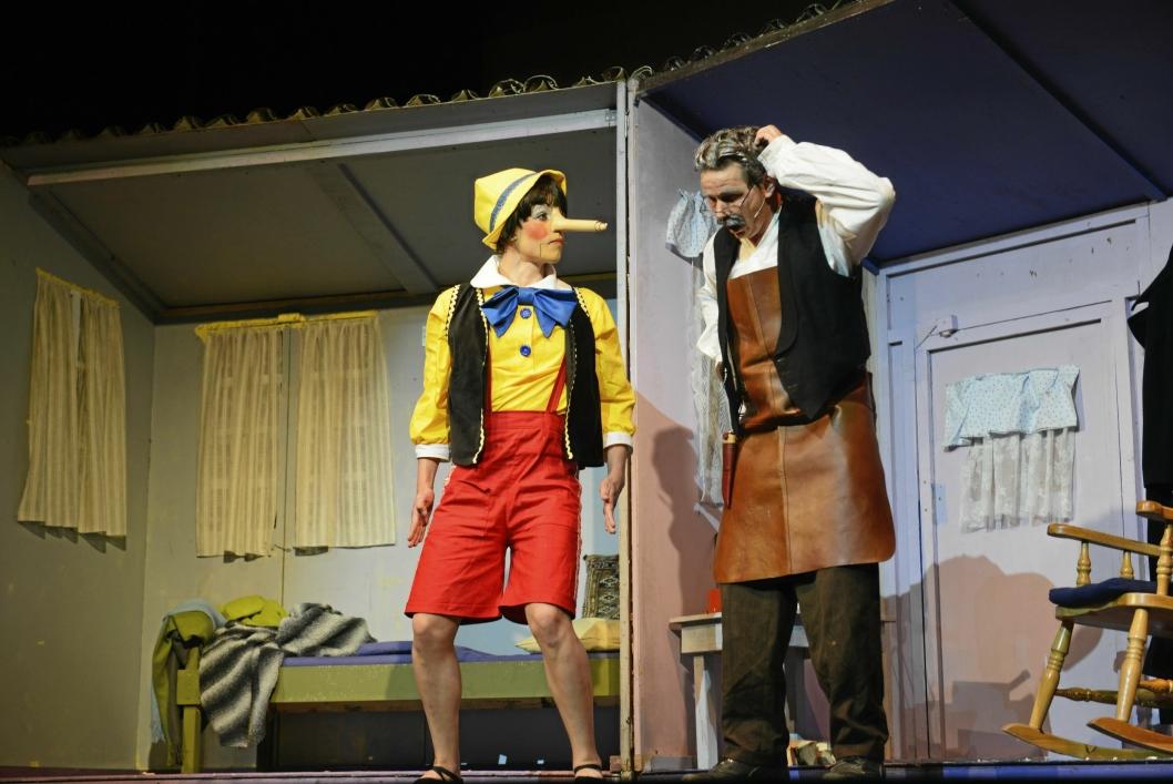 MESTERLIG: Marianne Mørks Teaterskoles Pinocchio er klassikeren i moderne versjon.