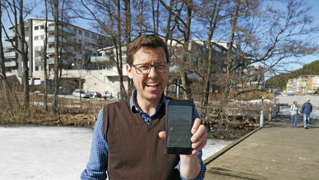 FORNØYD: Håkon Gulbrandsen (SV) er fornøyd med responsen på aksjonen sin for Kolbotnvannet.