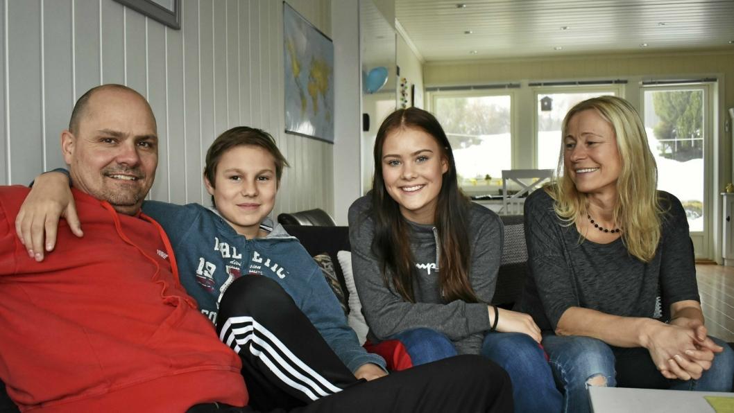 SAMMENSVEISET GJENG: Familien Hasfjord-Lia bor på Sofiemyr, og ble valgt ut blant førti påmeldte familier til å bli med på Familieekspedisjonen. Det var tøft, tungt og utfordrende, men også veldig morsomt. – Jeg hadde ikke gjort alt dette hadde det ikke vært for at det var tv. Jeg synes det var kjempemorsomt, sier Hannah.