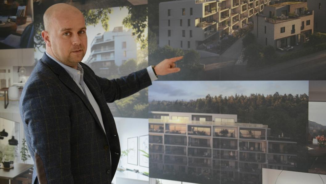 STOLT: Utbyggingsdirektør i Solon, Tom Andrè Svenning-Gultvedt er stolt av prosjektet i Storebukta.