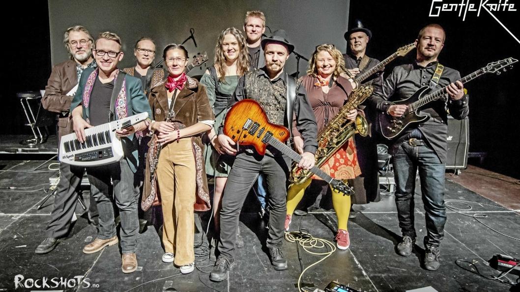 GENTLE KNIFE: Progrock-bandet med flere medlemmer fra Oppegård skal opptre på Europas største progrock-festival i Tyskland i juli.
