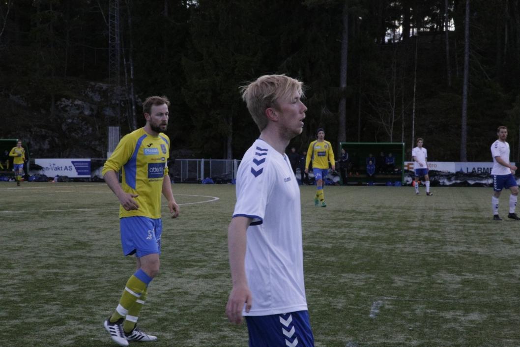 FULLT FOKUS: Sportslig leder- og venstreback Sindre Brevik under kampen