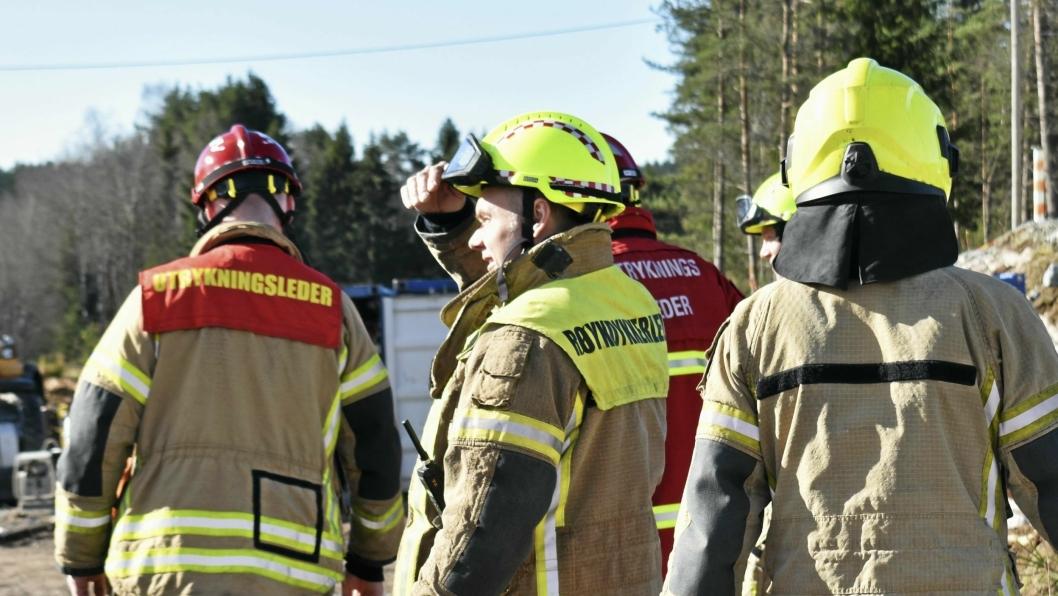BRANN I TOMANNSBOLIG: Søndag 29. april brant det utenfor en tomannsbolig i Skiveien, og brannvesenet fikk raskt kontroll på flammene. Bildet er tatt i forbindelse med en annen sak.