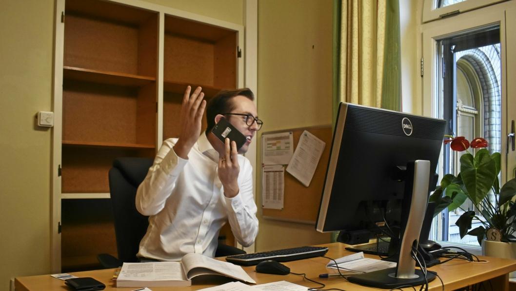 RETT TIL HELTID: Stortingsrepresentant Nicholas Wilkinson (SV) fra Kolbotn ønsker flere heltidsstillinger, spesielt til kvinner i omsorgssektoren.