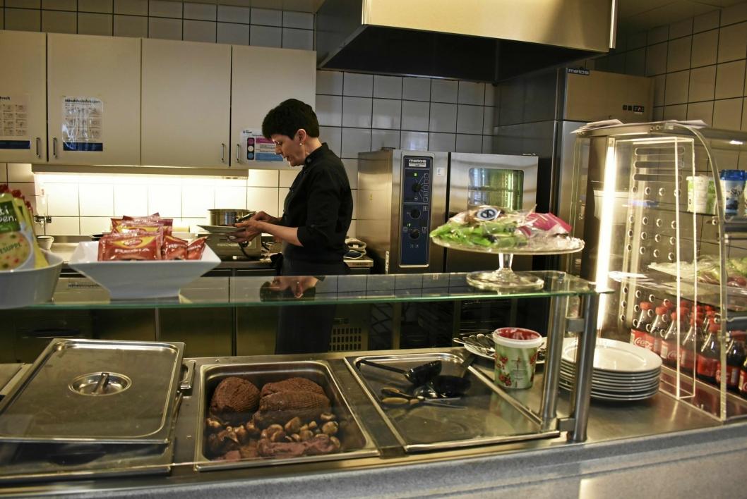 ELGSTEK: På Greverud sykehjem ble det servert elgstek onsdag 2. mai.