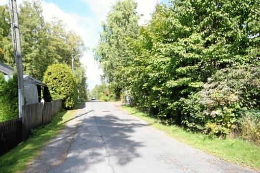 SKOGVEIEN: Denne veien finner man i begge kommuner, så hvilken må få nytt navn?