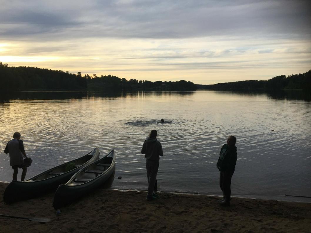 IDYLLISK: Et øyeblikk fra en tidligere sommertur i kano.