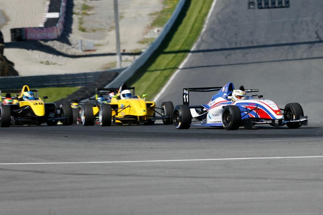 RACING: Fra lørdagens Formula STCC Nordic-løp lørdag 19. mai.