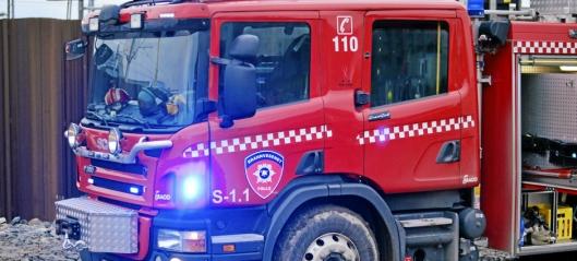 Brann i bil på Svartskog