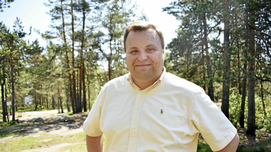 BEGEISTRET: Ordfører Thomas Sjøvold tror finansiering av prosjekter på tvers av Ski og Oppegård kan bidra til å skape en felles identitet.