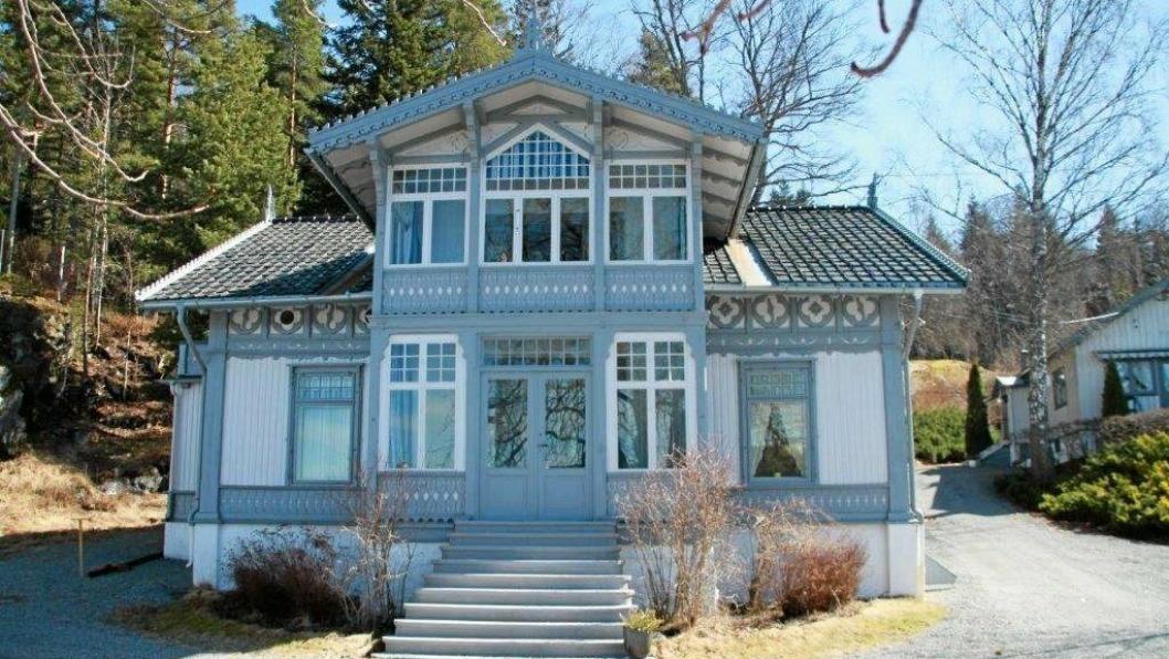 SESONGÅPENT: Roald Amundsens hjem på Svartskog.