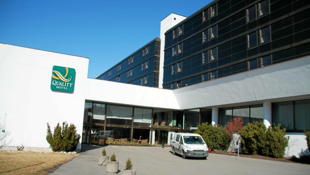 UHELDIG MORGEN: Quality Hotel Mastemyr.