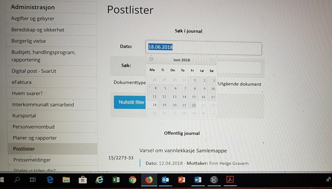 – FJERNES FOR TIDLIG: Postlistene i Oppegård kommune er søkbare i bare tre måneder. Papirversjonen oppbevares i seks måneder. – De fjernes for tidlig. Det er svært skuffende og det svekker innsynet kraftig, sier rådgiver Kristine Foss i Norsk presseforbund.