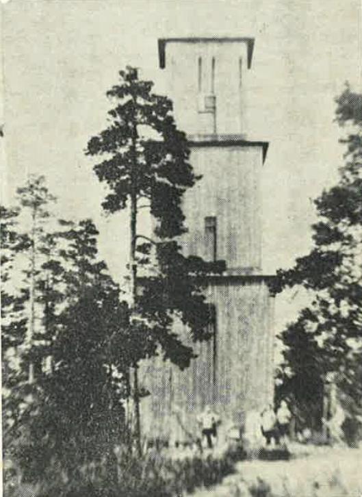 TURMÅL: Branntårnet på Grønliåsen var et populært turmål, og det nye tårnet kommer sikkert tilå bli minst like populært.