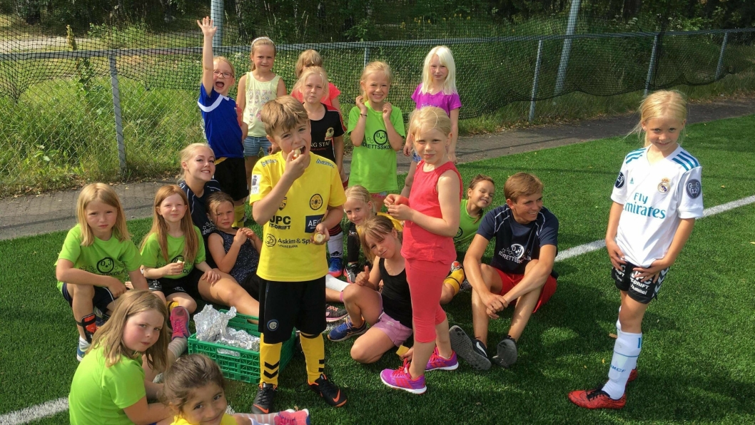 IDRETTSUKE: Oppegård ILs idrettsskole juni 2018.