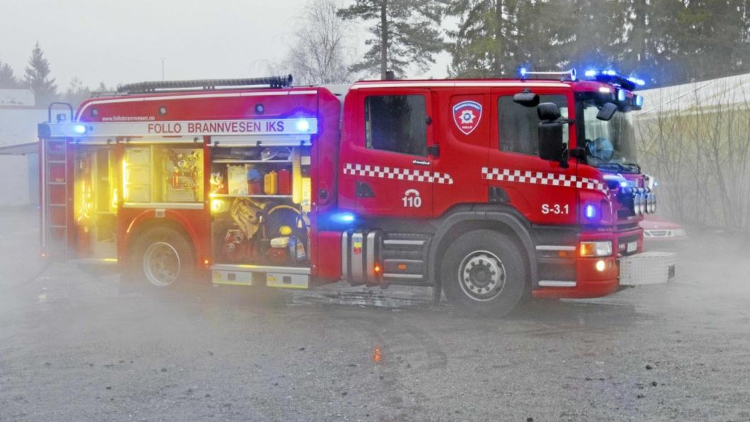 BRANN PÅ MYRVOLL: Det brant i en bolig på Myrvoll i går kveld. Ingen skal ha blitt skadet i brannen.