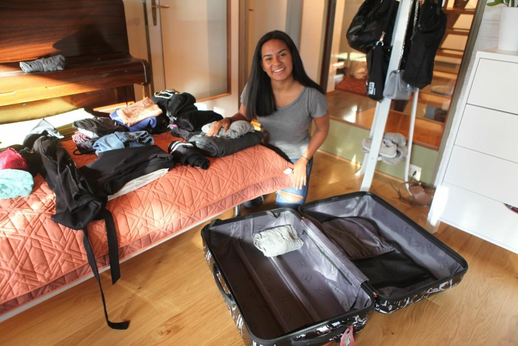 PAKKER: Lørdag 4. august reiser Ida på et nytt eventyr til USA.