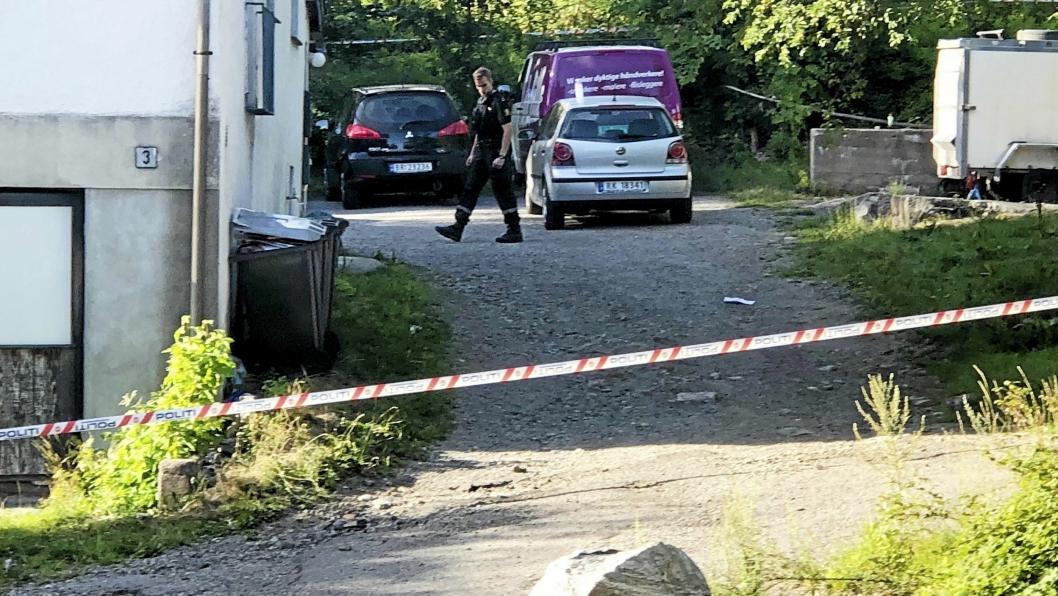 SKUTT: En mann ble skutt i Sætreskogveien i Oppegård syd lørdag 4. august.