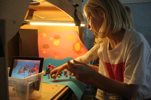 EVENTYRLIG VERDEN: Animasjonskurset ble godt likt av barna Oppegård Avis har snakket med.