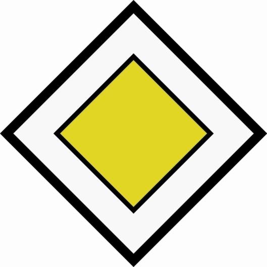 FORKJØRSVEI: Skiltet angir at kjørende som kommer fra sidevei eller kryssende vei, er pålagt vikeplikt.