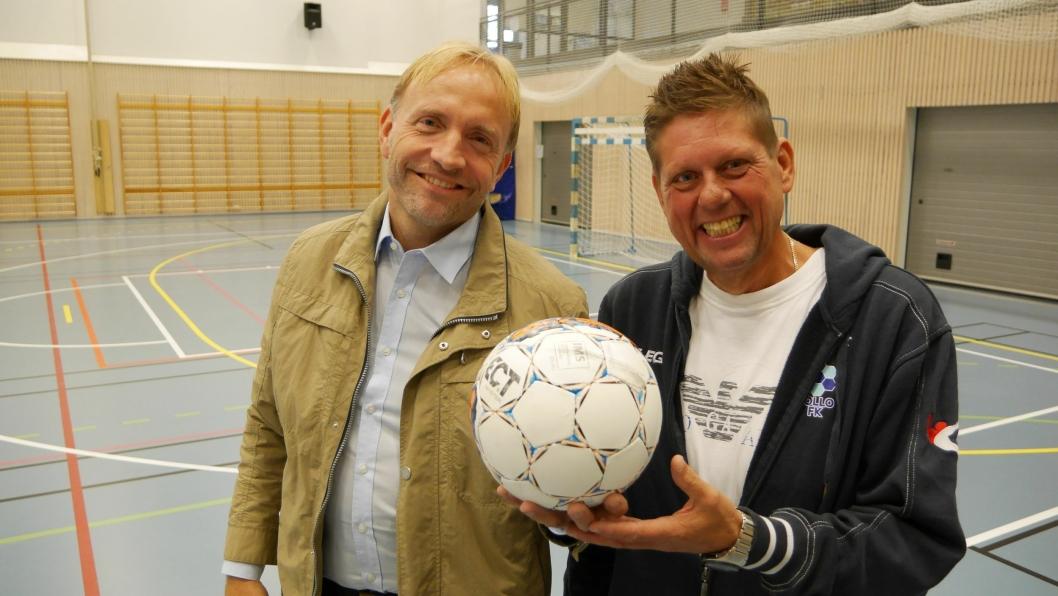 OPPSTART: Jan Thomas Birkeland (t.v.) og Arve Moi skal starte klubben Nordre Follo FK.