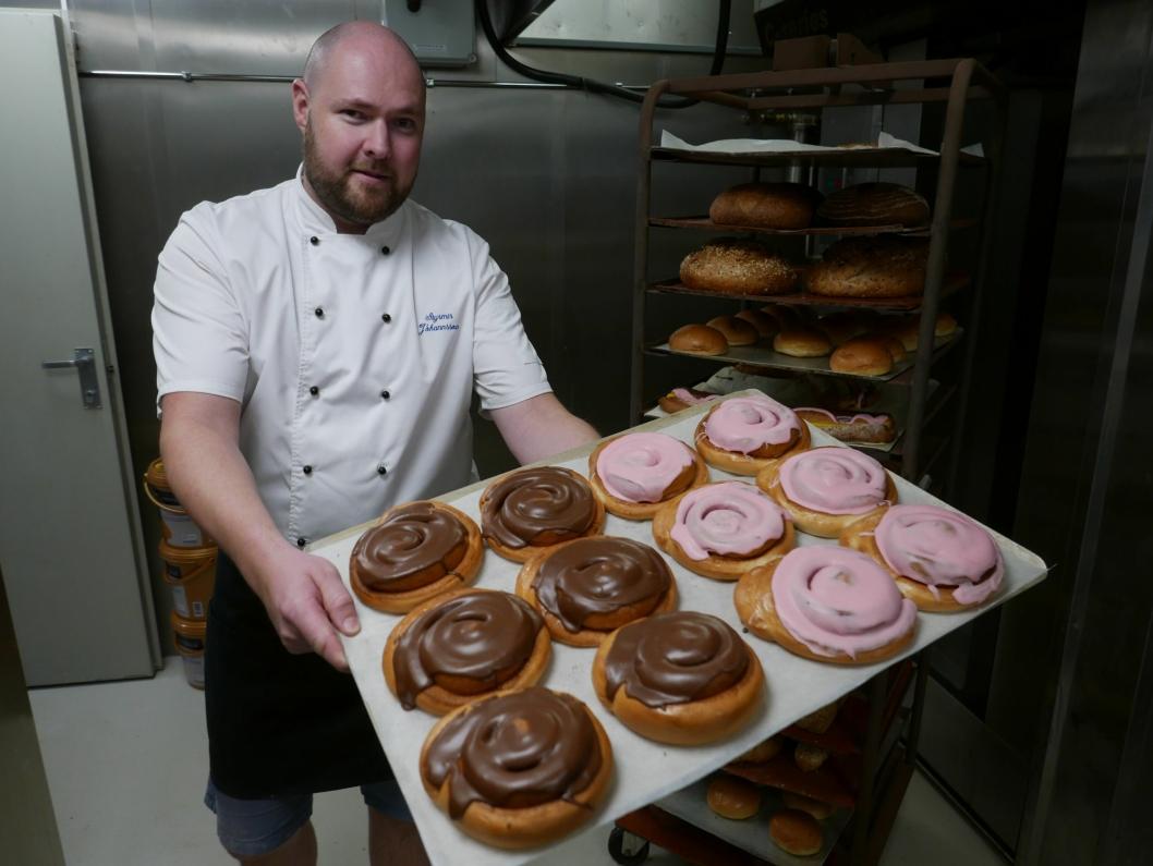 FLINK TIL Å BAKE: Baker Styrmir Johannsson (35) gleder seg til å sette i gang.