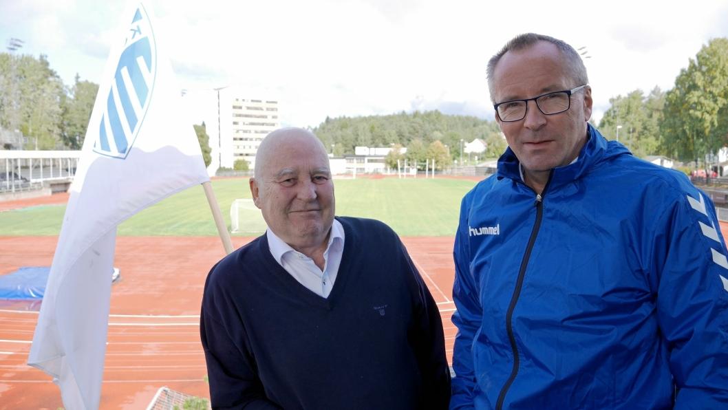 SKEPTISK: Håkon Bekkestad (t.v.) og Harald Vaadal er ikke overbegeistret over de nye klubbplanene.