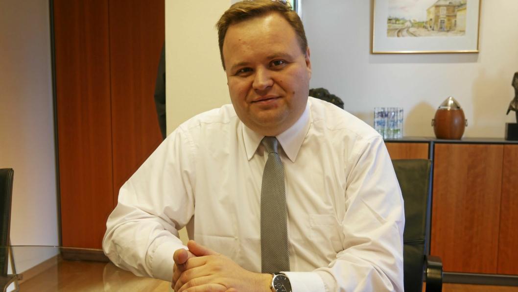 TRANGT DRIFTSBUDSJETT: – Jeg kan ikke finne mer penger i driftsbudsjettet til dette, sier ordfører Thomas Sjøvold (H).