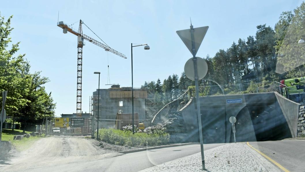 OMSORGSBOLIGER: Protestbevegelsen refererer til nybygget som reiser seg i Edv. Griegs vei 5-7 på Kolbotn.