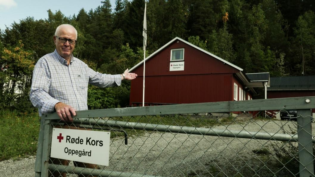 ÅPNER DØRER: Dag Johnsrud (65) fra Tårnåsen håper mange stikker innom Røde Kors-huset førstkommende tirsdag.