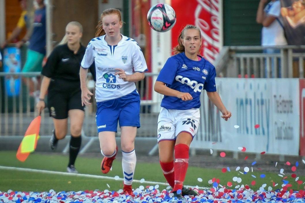 FINALE NR. 2?: Klarer Jenny Bjøntegaard Keiserud & co og komme til nok en stor finale i år? Her fra årets Norway Cup-finale.