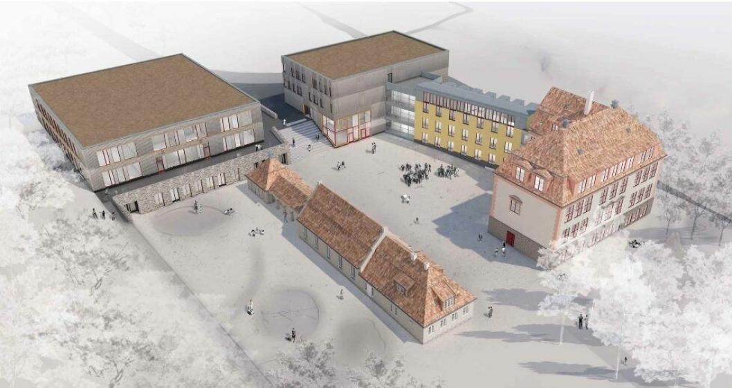NYE KOLBOTN SKOLE: Slik kan den nye skolen se ut, ifølge forprosjektet. Skolestarten planlegges fra januar 2021.