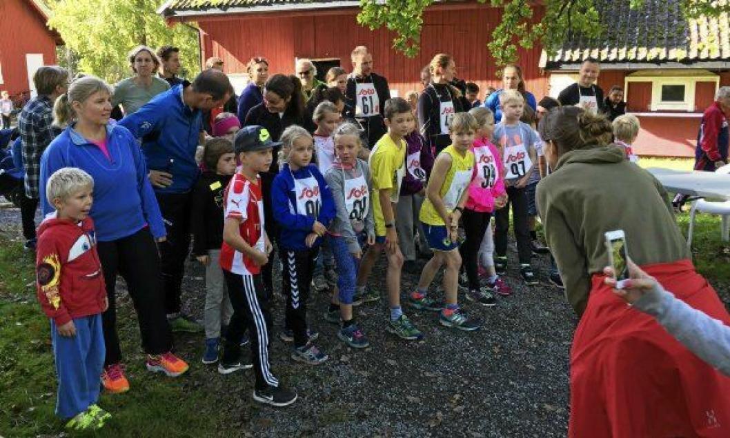 EGET LØP FOR BARNA: De yngste langdistanseløperne har en løype på 1 km, og garanterte premier!