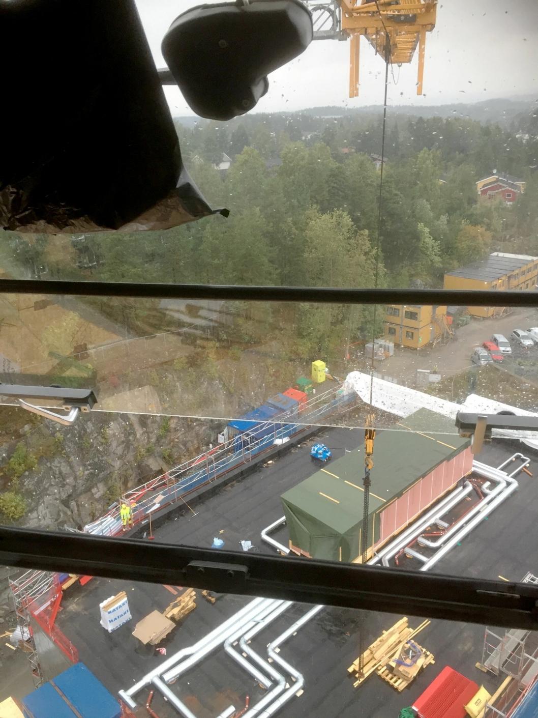 TOPPEN AV EGO: Bildet er tatt 40 meter over bakken.