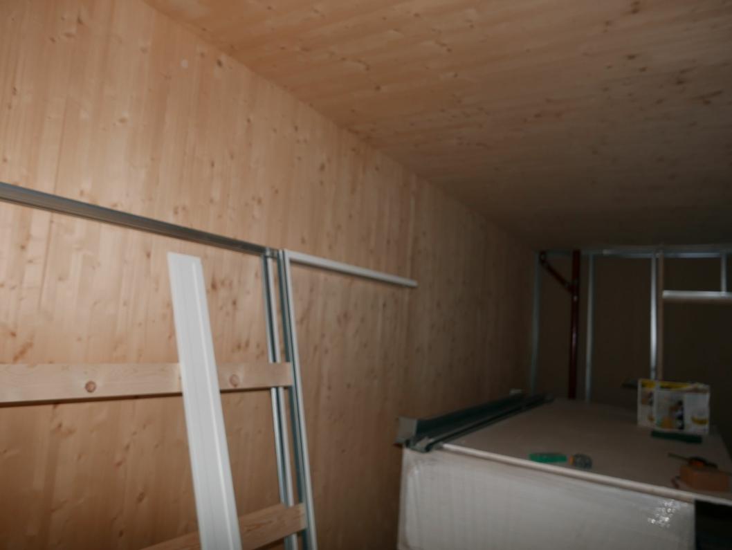 SKAL VERKEN MALES ELLER TAPETSERES: Massivtre skal brukes på veggene og takene i leilighetene.