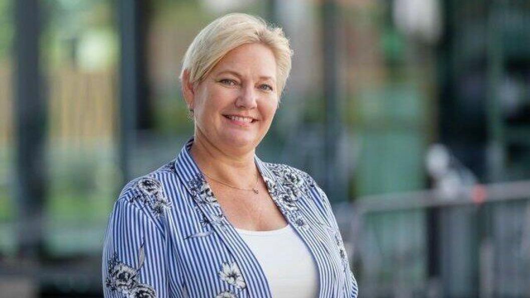 KOM MED GLADNYHET: Kommunestyrerepresentant for Oppegård Høyre, Synnøve Kongsrud.