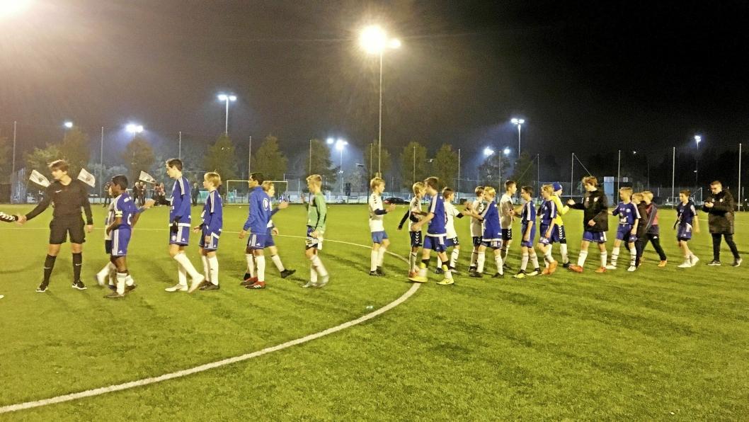 FØRSTE KAMP: Kolbotn-gutta møtte Oppsal i første kamp i kretsmesterskapet. Foto: Klaus Eriksen