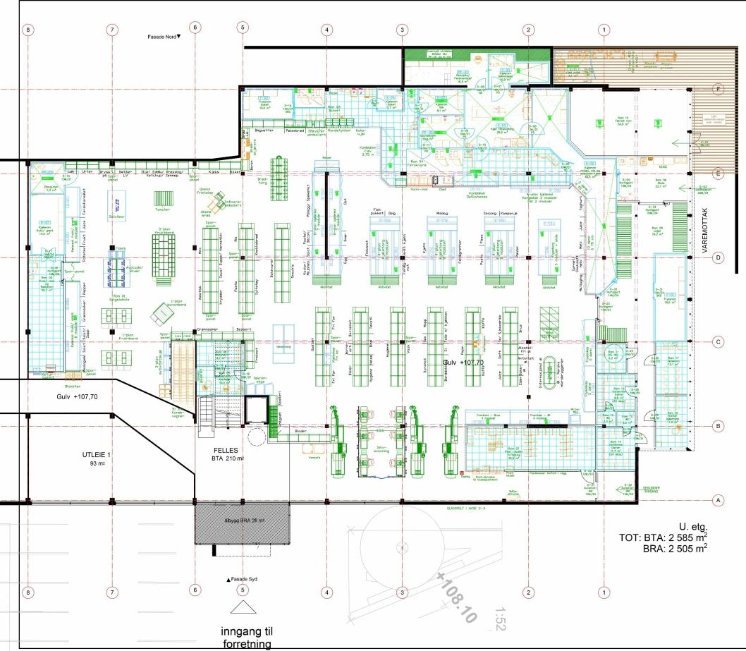 STØRRE: Tegningen viser hvordan den nye Meny-butikken skal utformes.