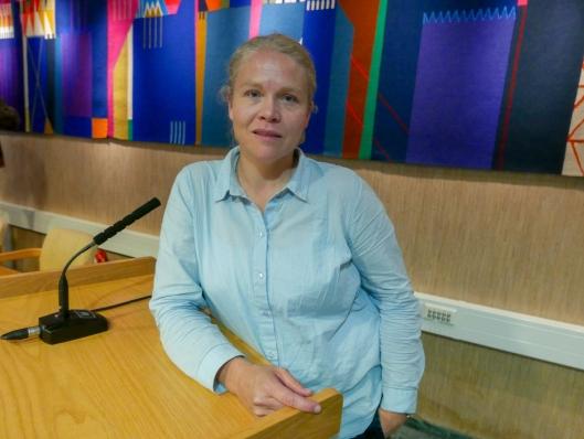 VIL IKKE SPEKULERE: Forsker Sigrid Haande fra NIVA vil ikke spekulere i årsaken til fiskedøden.