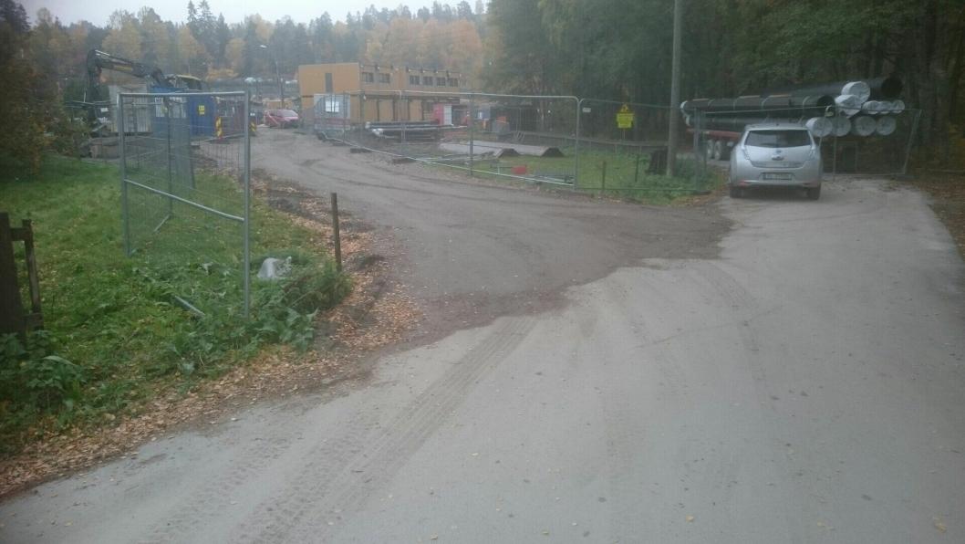 UTBEDRET MANGLENE: Anleggsområdet har blitt forsvarlig sikret i dag, ifølge kommunen.