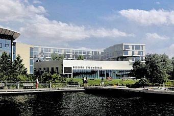 Svømmehall og boliger som nabo