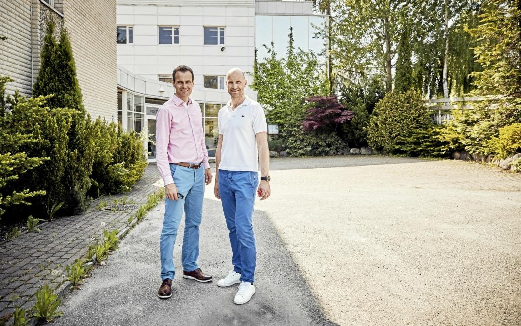 VIL BYGGE BOLIGER: – Planområdet er særdeles godt egnet for boligbygging, sier Tomas Tenden og Christian Kulberg i Loe Utvikling.