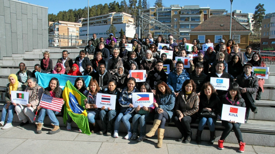 ILLUSTRASJONSFOTO: Bildet, som ble tatt i 2016, viser noen av elevene ved Oppegård kvalifiseringssenter (OKS).