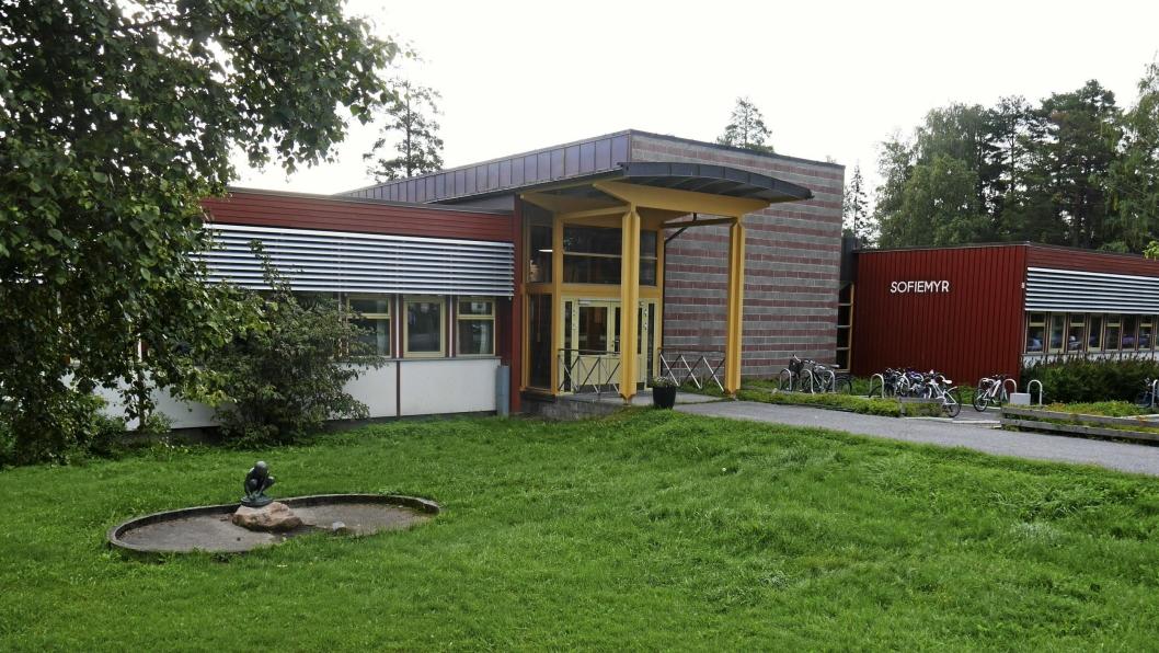 SKAL SELGES: Sofiemyr skole skal også selges. Området skal omreguleres til boliger.