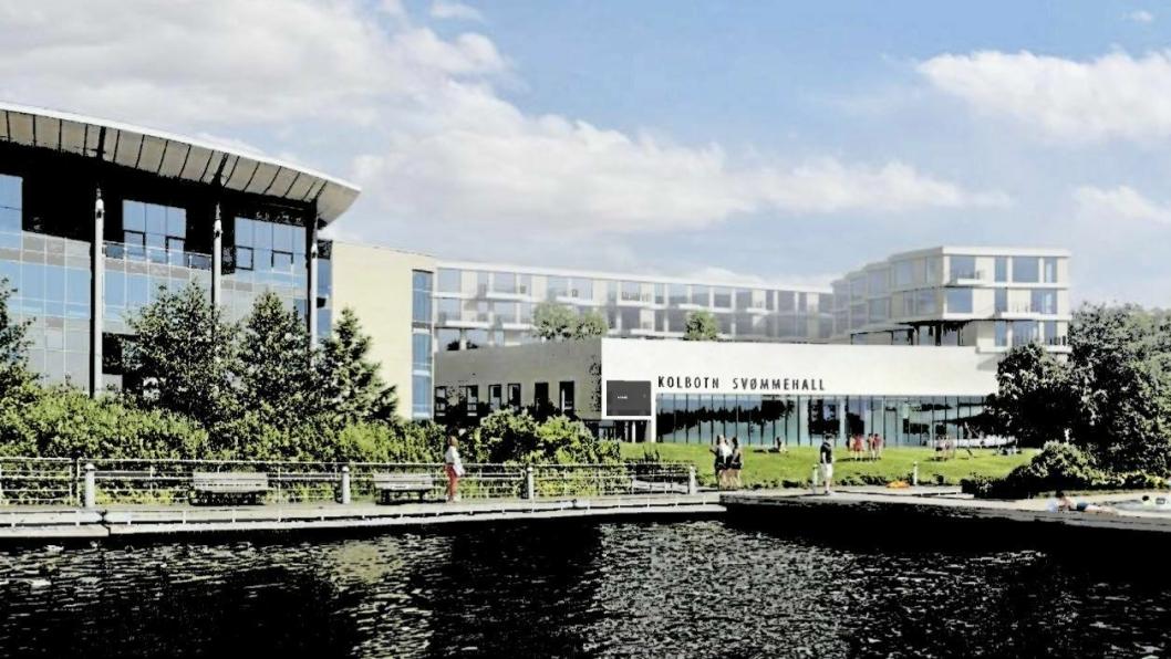 SVØMMEHALL I SENTRUM: Den nye svømmehallen skal bygges der Generasjonsparken ligger nå.