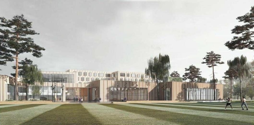 FRA SYV TIL NI METER: Idrettshallen er planlagt bygget med sju meters takhøyde, men nå skal kommunen undersøke kostnaden ved å øke takhøyden fra syv til ni meter.