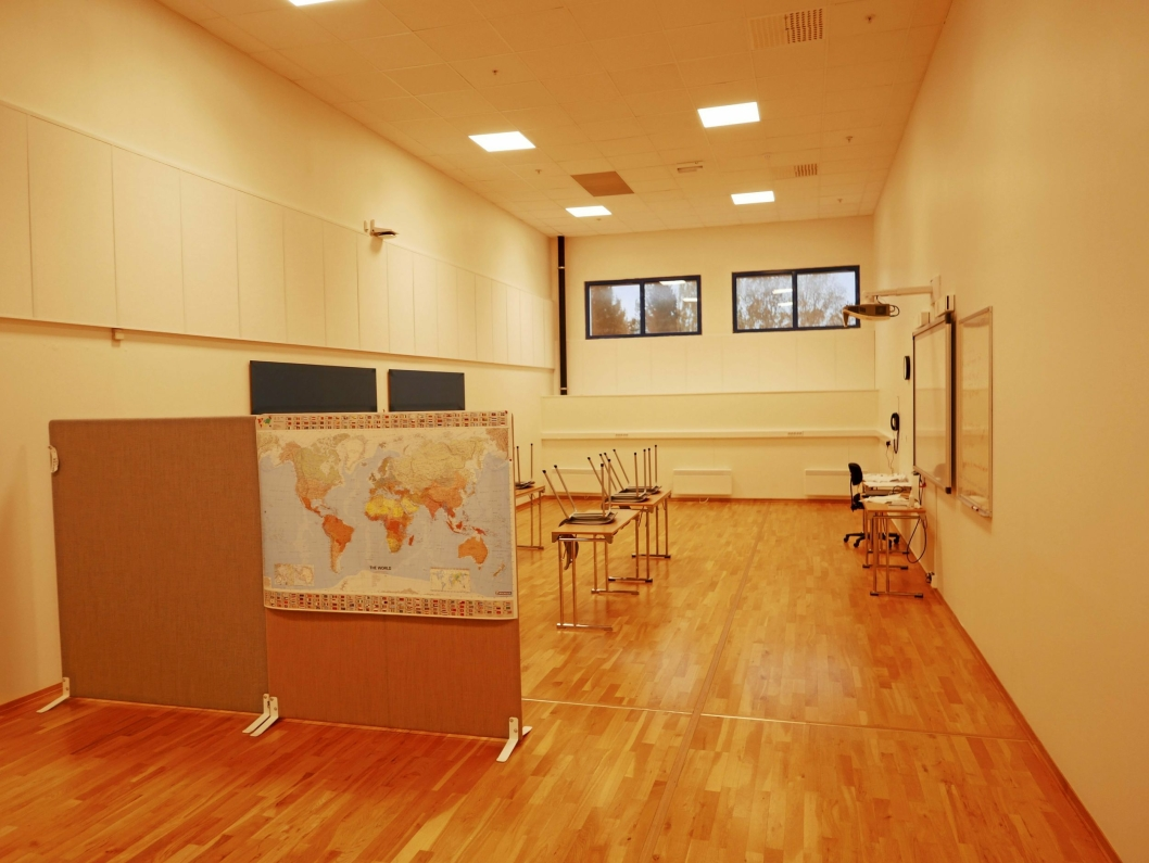 OKS: Jernias showrom ble til seks undervisningsrom i fjor høst da Oppegård kvalifiseringssenter (OKS) flyttet inn i Fløisbonnveien 2-4.