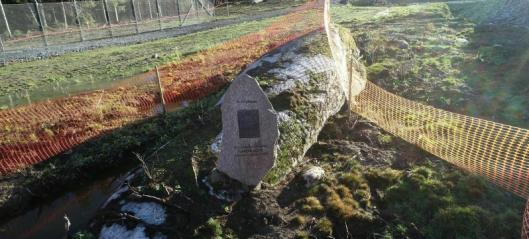Minnesteinen er flyttet til Oppegård