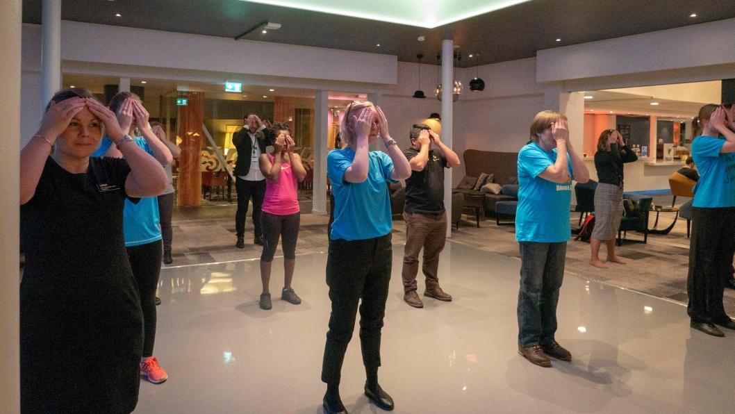 TRENING GIR PENGER: Pulsen opp for ansatte og gjester på Quality Hotel Entry på Mastemyr i går ettermiddag. Nordic Choice Hotels-kjeden donerer 15 kroner for hver ansatt eller gjest per treningsøkt som varer minst 30 minutter.