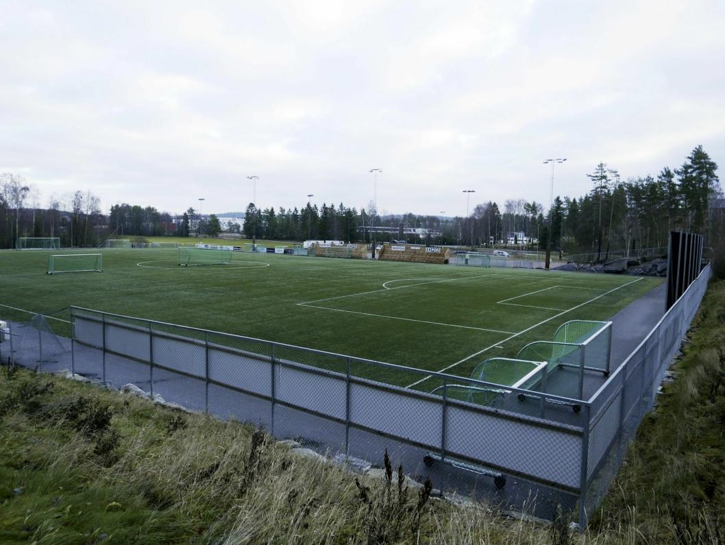 Ny kunstgressbane, Tømtebanen, tennishall, Sofiemyr idrettspark. Foto: Yana Stubberudlien